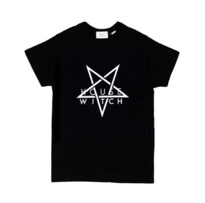 All black 4XL T-Shirt by House of the House with white letters saying Witch House and a large white star.